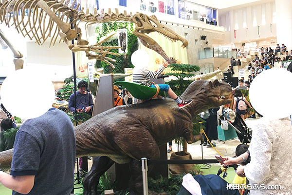 恐竜ライドのコーナー