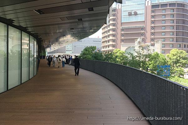 阪神梅田本店2Fテラス通路
