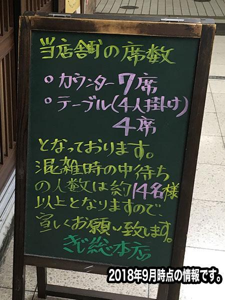 入店の注意事項