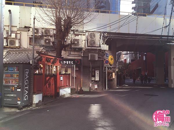 梅田にある歯神社の場所