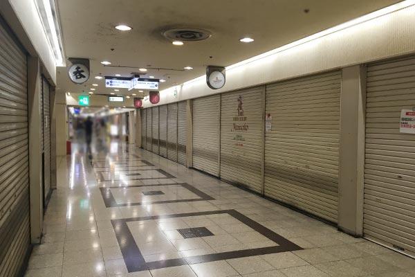 大阪駅前ビル緊急事態宣言中